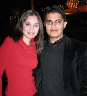 Claudia Salas e Ignacio Garibaldy.
