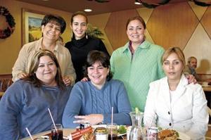 Margarita Noyola, Nora de Borbolla, Ely Román, Araceli de Bada y Araceli Martínez.