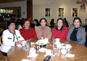 Verónica Arellano, Maricela Araiza, Alicia de Viesca, Ligia Guerra, Juanis García, y Anita de Avila.