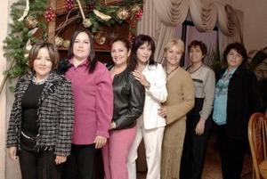 Lorena de Gámez, Rocío de Albores, Rosy de Armendáriz, Alma de Ochoa, Gina de Estrada e Irma de Caldera, enuna posada decembrinas.