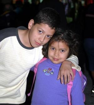 Itzel Andrea y Samuel Hernández.