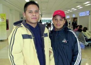 Héctor Rosales y Citlali García viajaron a México, D.F..