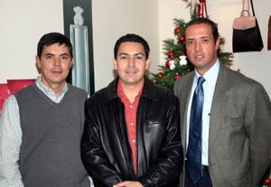 José Ramón Arias, Daniel Amarte y Filemón Garza