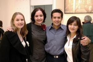 Cristina Treviño, Paty Hernández, Julio Sandoval y Ana Villar