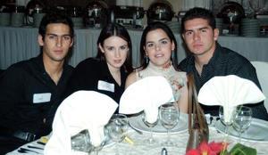 Juan Antonio Murra, Mariana Diez, Ana Cristina Diez y Felipe Esqueda