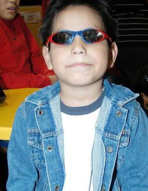 Cristopher Adari Ramírez, captado en reciente festejo infantil