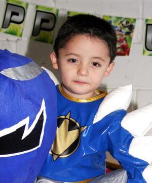 El pequeño Nazario López Téllez disfrutó de un convivio infantil, con motivo de su quinto cumpleaños..