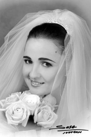 Srita. Maricel Mijares Callau, el día de su enlace matrimonial con el Sr. Eugenio Betancourt Noyola.