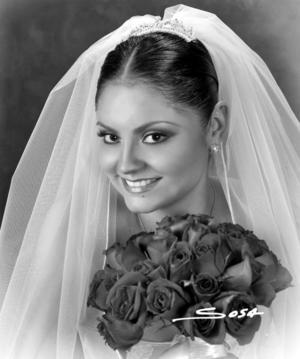 Srita. Elsa Virginia Contreras el día de su enlace nupcial con el Sr. Daniel Villavicencio Rodríguez.