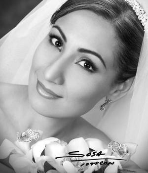Srita. Ana Cecilia García Gutiérrez  el día de su enlace matrimonial con el Sr. Jesús Alejandro Sotomayor Salas.