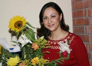 Alejandra Artea Gómez, captada en su despedida de soltera