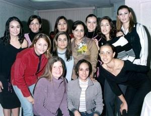 Karina Hernández Calzada, en su despedida de soltera con sus amigas Valeria, Rebeca, Gaby, Iliana, Violeta, Norma, Mayela, Betty, Sofía, Vicky y Carmen.