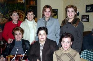 Posada del grupo de los jueves, en la que estuvieron presentes Mayela de Del Río, Samira Zarzar, Pilar de Gómez, Graciela de Albéniz, Mayra Salas, Sandra de Facusseh  y   Gloria de García