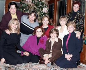 María de los Ángeles Mijares, Olga Gallegos, Alicia de Cárdenas, Susy de Rodríguez, Tita Armendáriz, Rocío de Juan Marcos, Paty de Ramos, Paty de Arizpe y Sonia de Revuelta  .
