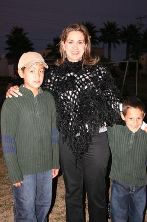 D-Iris, Guillermo y Daniel González, captados en agradable convivio