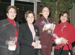 Conchis Pérez, MAria Eugenia Villarreal, Dora Luz Guerrero, Patricia de Fernández.