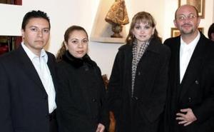 Ángel de la Campa, Diana Bandrés de De la Campa, Luis Marmolejo y Carmen de Marmolejo.