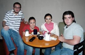 Sebastián Salas, Nidia Rivera, Liliana Padilla y Juan Francisco Aguirre.
