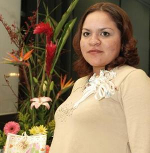 Elizabeth Escandón López el día de su fiesta de canastilla.