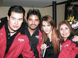 Armando Alatorre, Luis Ángel Álvarez, Daniela Ramos y Cristy Palacios.