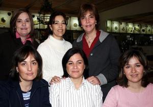 Maribel de Nuñez, Yolanda de Murra, Cony de  Duéñez, Analí de Díaz Ceballos, Gloria de Duéñez y Cecilia de Lara.
