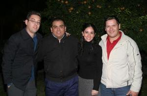 Donato Gutiérrez, Homero Adame, Lorena López Amor y  Roberto Díaz.
