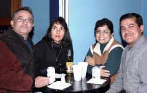 José Antonio García Dorante, Raquel Amador Castill, Aniceto Rodríguez Rivera y Yolanda Núñez.