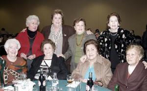Margarita de Herrera, Carmen de Martínez, Magdalena de Martínez, Esperanza de Martínez, Carmen P. de Martínez, Yolanda de Martínez, Laura de Martínez y Josefa López.