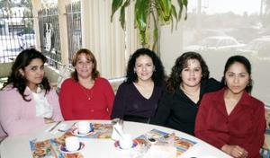 Rossy Rivera, Cecy Navejas, Micky García, Aracely Ochoa y Nora Rodríguez.