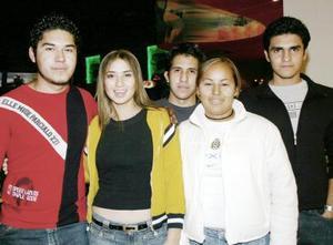 Francisco, Lorena, Roque, Belem y Gustavo.
