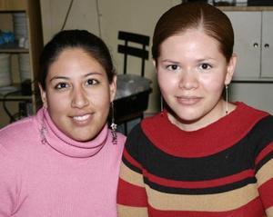 Claudia Palacios y Bety Borrego