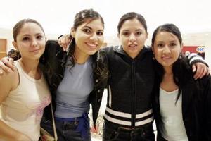 Ana Leticia, Mariana, Anabel y Claudia
