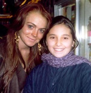 Ileana González Villanueva acompañada de la actriz Lindsay Lohan en su reciente viaje a Nueva York.