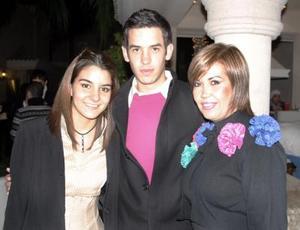 Nuri Murra, Kony Borrego y Luis Fernando Garza.
