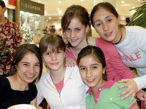 María José, Mariana, Isabel, Cristina y Andrea