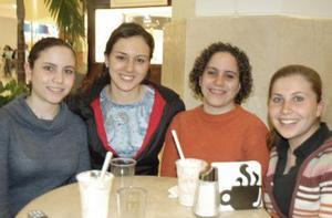 Yaneth Milán, Abigail Elizalde, Lizeth Milán y Cristelle Lehenaff