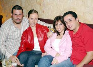 Alger Salazar, Gaby de Salazar, Rina de Gilio y Ángel Ramos