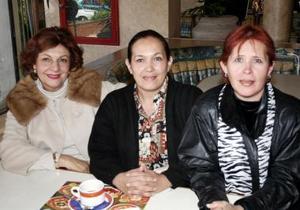 María Elena Metlich de Leal, Carmelita Díaz y Vera  Elyd de Metlich