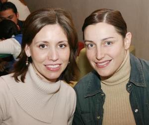 <b>13 de enero de 2005</b> <p> Katia Madero y Valeria Russek.