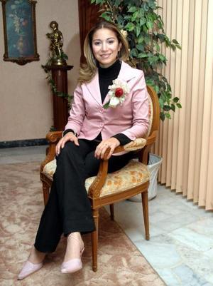 Jovana Vanessa Zamora en su depedida de soltera