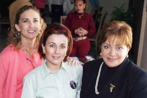 <b>14 de enero de 2005</b> <p> Nena de Fernandez, Lola de Silveyra y Lizy de Papadopulos