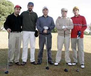 Juan Tinoco, Gerardo Torres, Armando Carlos, Ricardo Sada y Rafael Delgado.