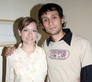 Frida Alicia Iduñate y Mario Hernández.