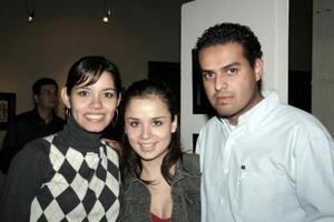 Sofía Villarreal, Ale Ávalos y Jorge Ruvalcaba.