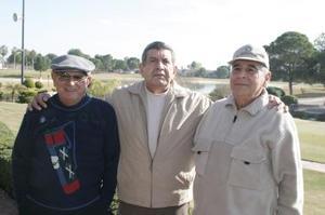 Arnulfo Lara, Víctor de la Peña y Luis Granados