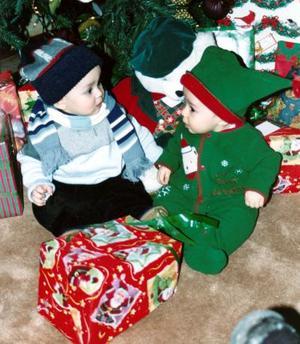 Diego Rodríguez y Marcela Rodríguez Domínguez disfrutaron de su primer Navidad