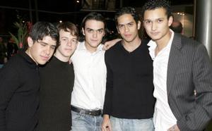 Chuy Correa, Juanjo Gómez, alejandro López, Raúl  Villegas y carlos Hernández.