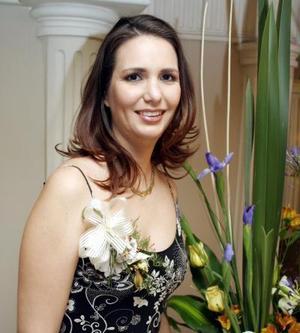 Hideliza Flores Aguirre  en su primera despedida de soltera.
