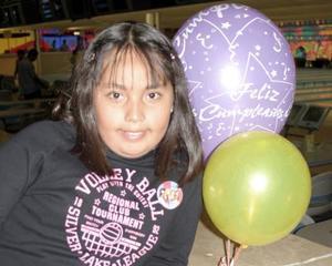 Angélica Martínez Mendoza celebró su noveno cumpleaños  con una divertida fiesta infantil