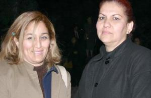 Rosaura Román de Franco  y Lety de Moreno